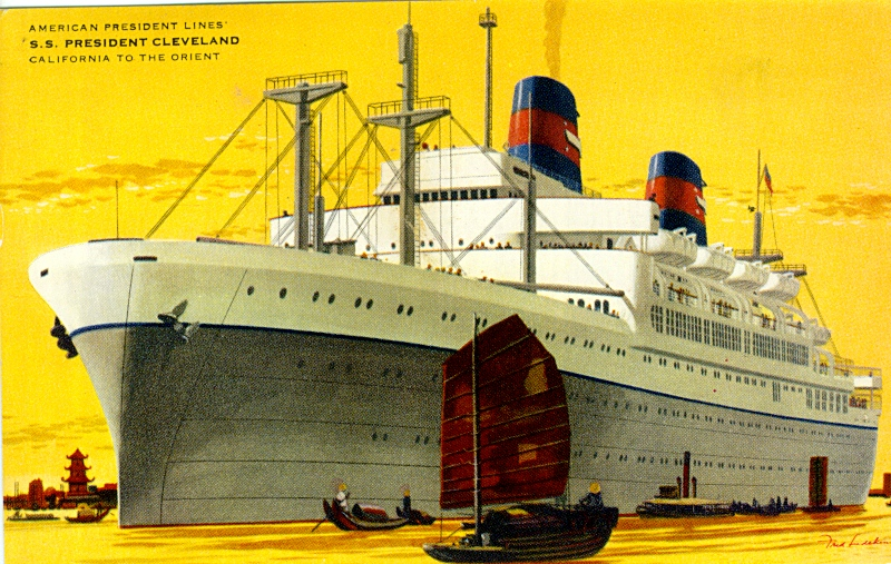 Photo of the President Cleverland oceanliner