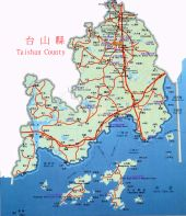 Click to see enlarged map of Taishan on a separated window.